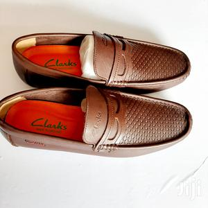 Brown Leather Clarks Loafers-Sz 43 | Shoes for sale in Greater Accra, Ga West Municipal