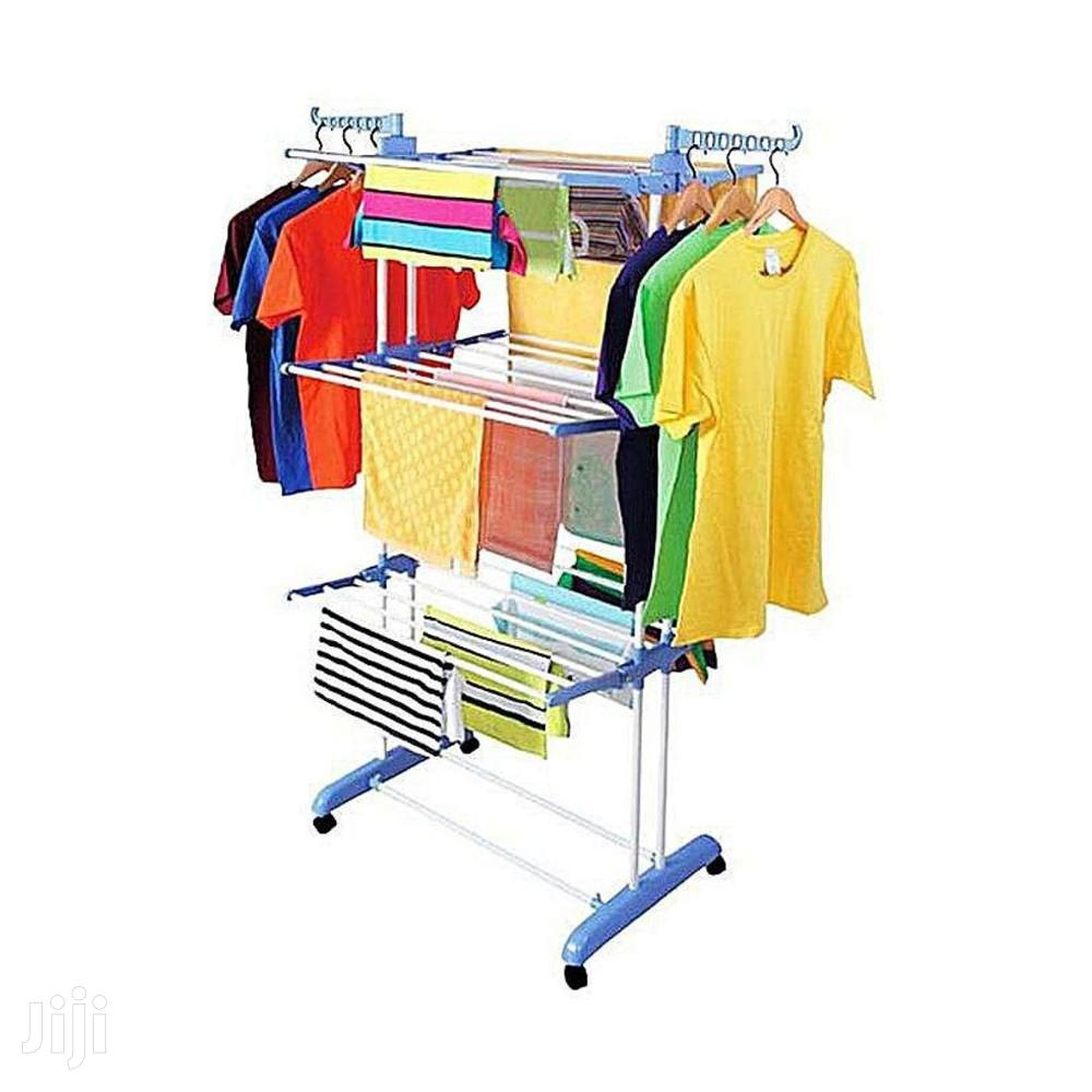 3 Tier Foldable Drying Rack Cloth Laundry Hanger | Home Accessories for sale in Accra Metropolitan, Greater Accra, Ghana
