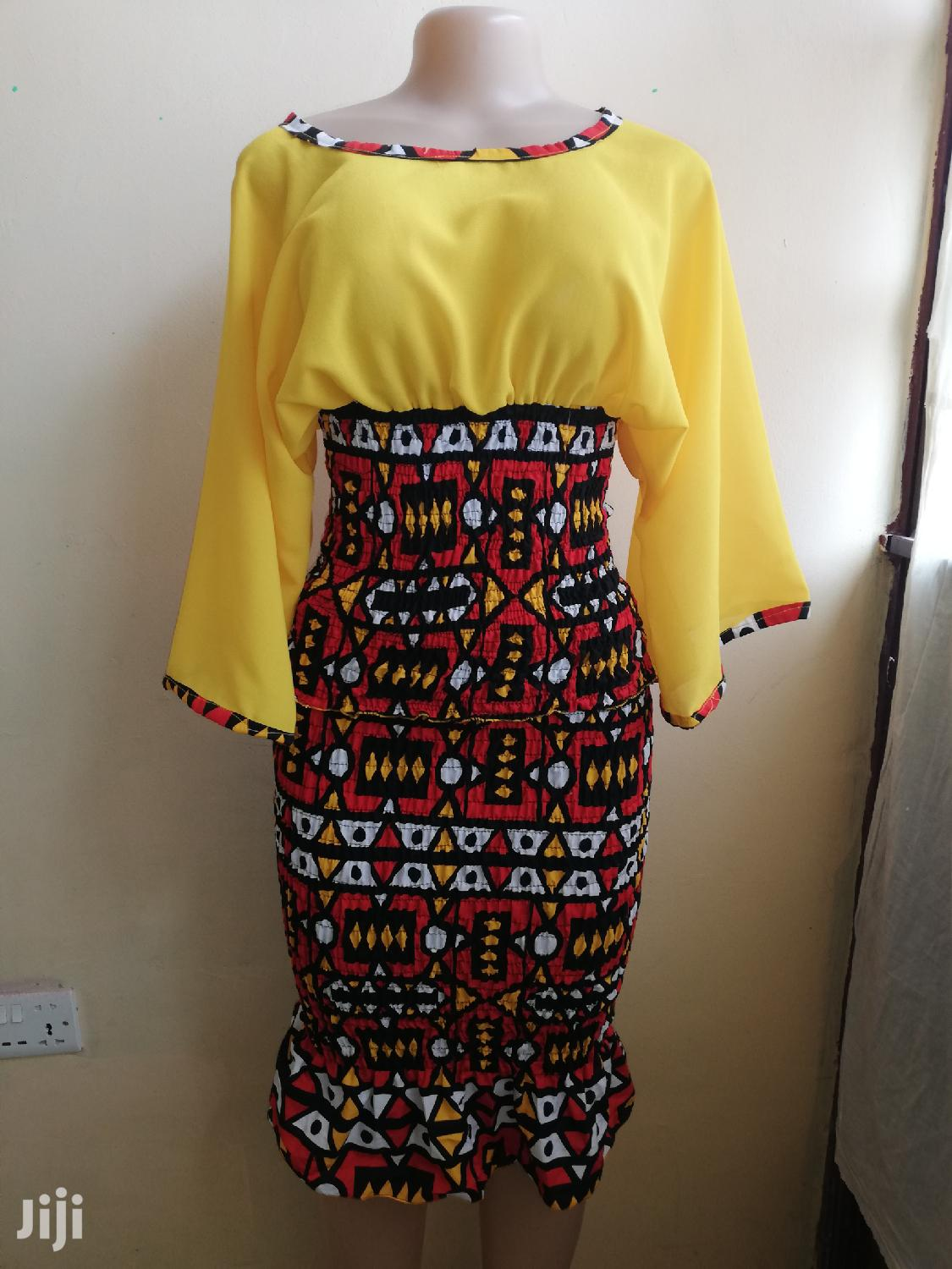 Archive: Beautiful African Print Style Fabric Dress
