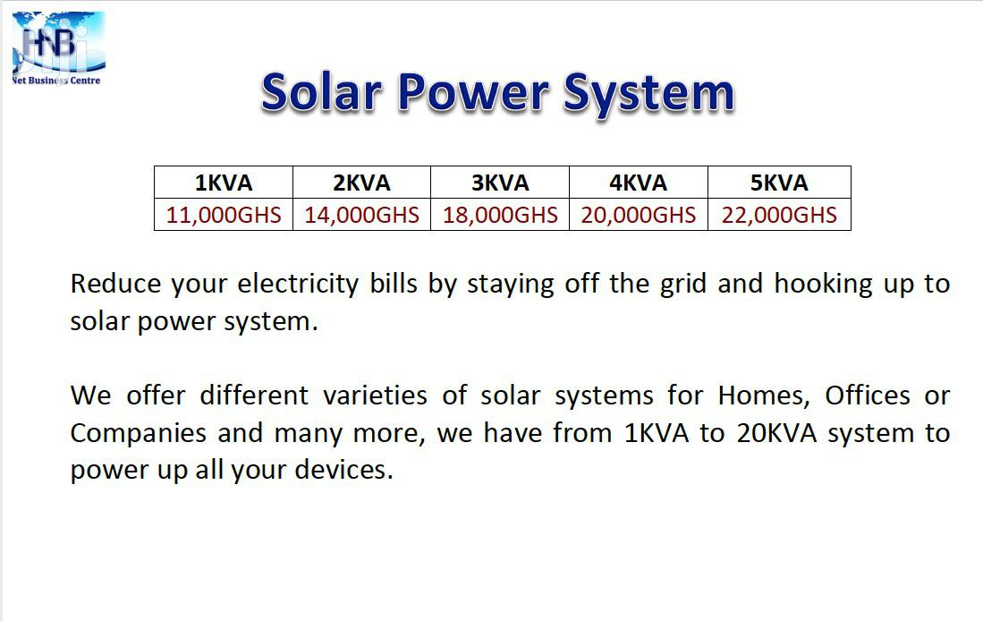 Sola Power System   Solar Energy for sale in East Legon, Greater Accra, Ghana