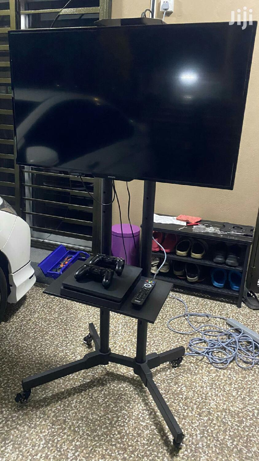 """TV Stand Mobile Cart Trolley 32-65"""" Screen LED LCD Monitor"""
