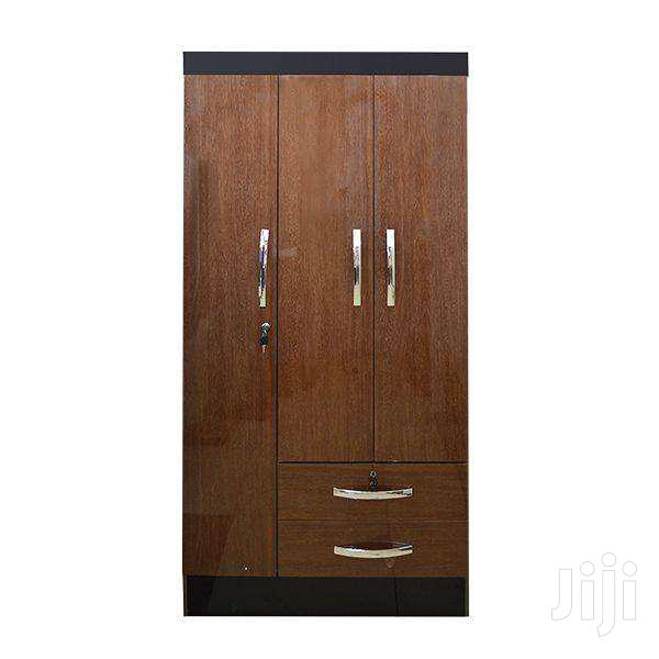 WOODEN WARDROBE 3 DOORS 2 DRAWERS | Furniture for sale in Adenta, Greater Accra, Ghana