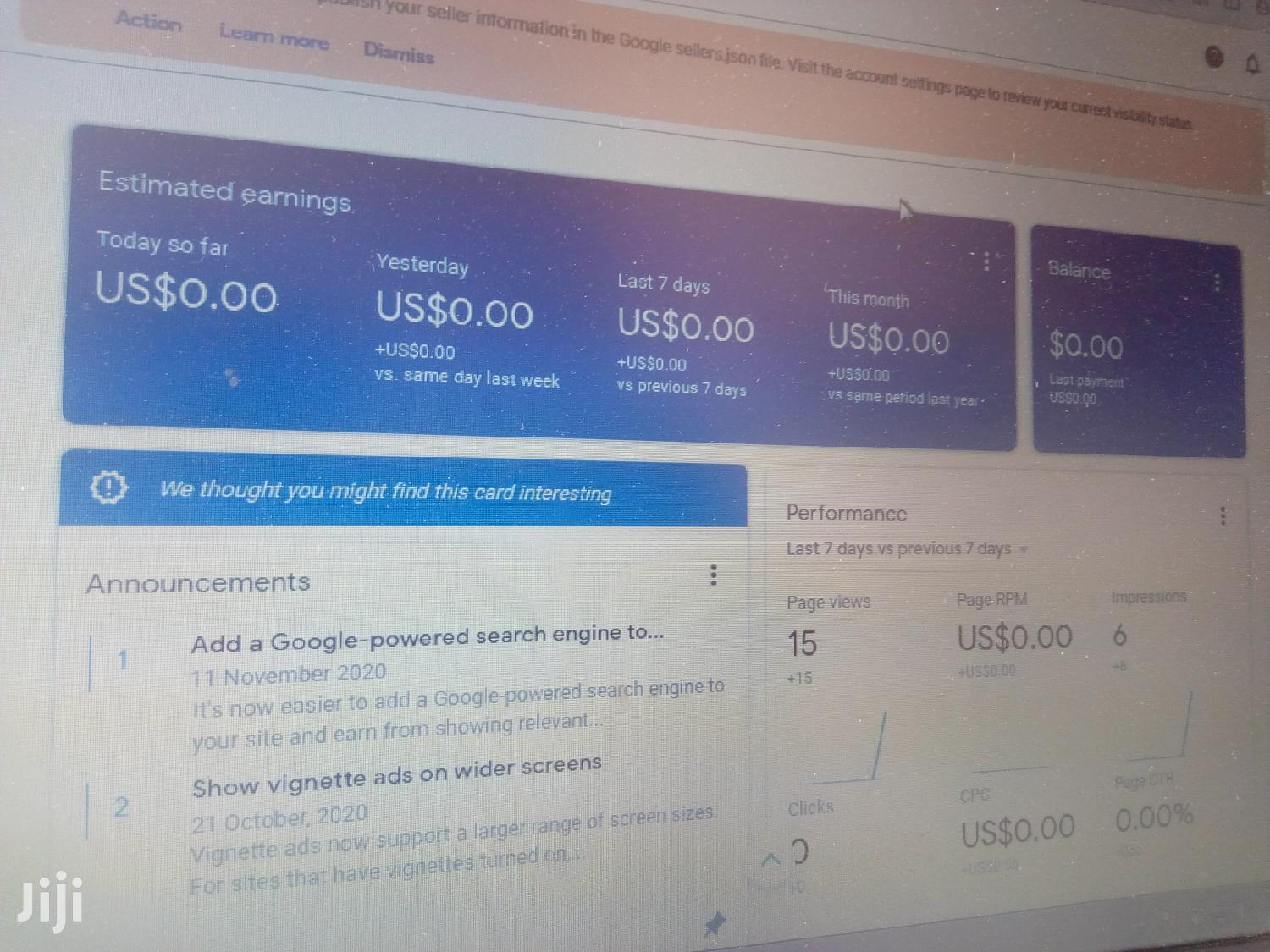 Website and Adsense on Sale | Computer & IT Services for sale in Adenta Municipal, Greater Accra, Ghana