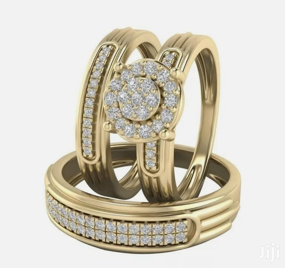 3 Pieces Gold Wedding Ring Set for Couples | Jewelry for sale in Ga South Municipal, Greater Accra, Ghana