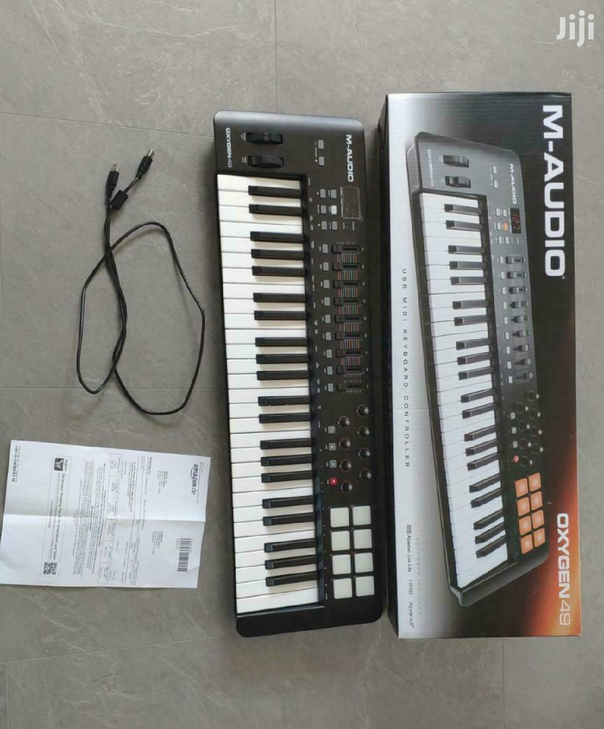 M-Audio Oxygen 49 Midi Keyboard New Without Original Box | Musical Instruments & Gear for sale in Alajo, Greater Accra, Ghana