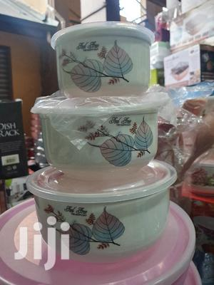 3pcs Set Ceramic Bowls With Leak Proof Lids | Kitchen & Dining for sale in Greater Accra, Accra Metropolitan
