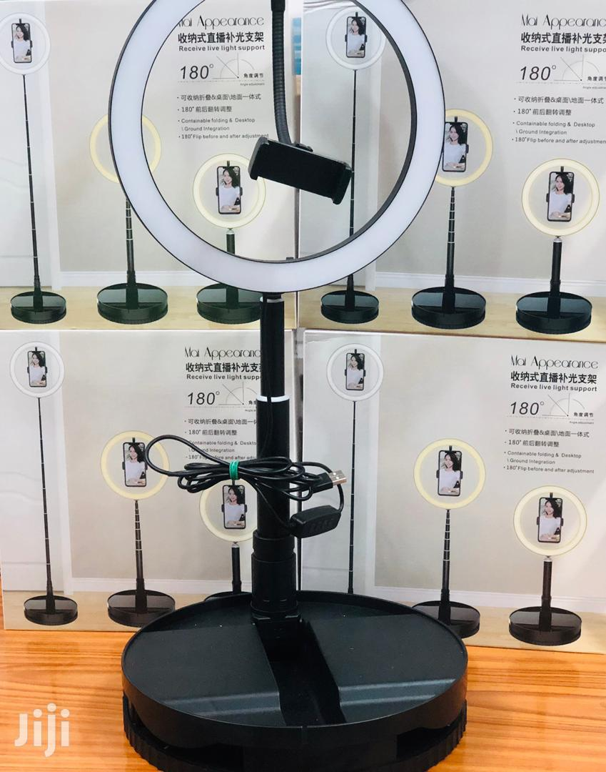 Portable 180 Degree 10 Inch Ring Light Lamp With Stand