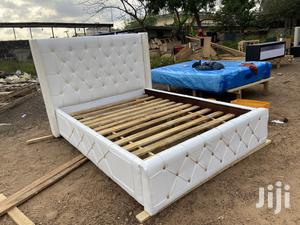 White Design Bed Frame | Furniture for sale in Greater Accra, Alajo