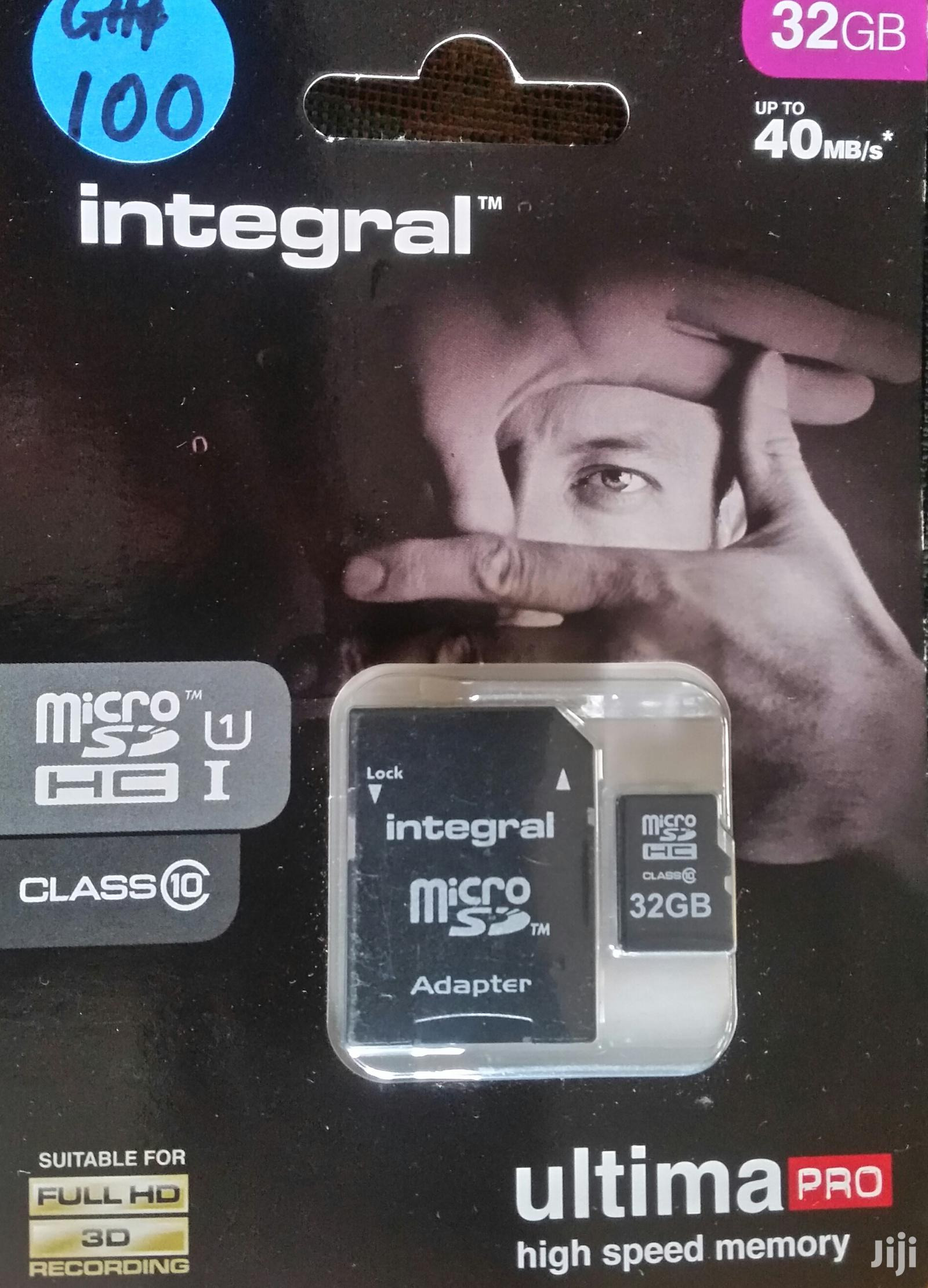Adata And Integral 32gb Micro SD Cards From UK | Accessories for Mobile Phones & Tablets for sale in North Labone, Greater Accra, Ghana