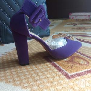 Purple Suede Block Heels   Shoes for sale in Ashanti, Atwima Kwanwoma